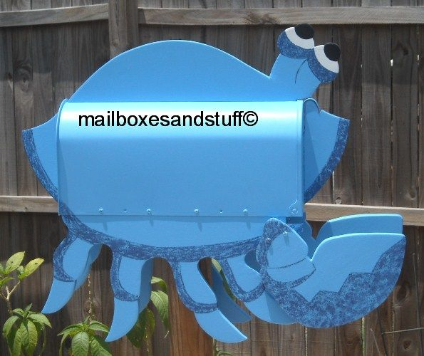 Blue Crab mailbox,: Novelty Blue, Mail Boxes Difference, Creative Mailboxes, Mailboxes Art, Fun Mailboxes, Unique Mailboxes, Blue Crabs Mailboxes Jpg, Weird Mailboxes, Red Crabs