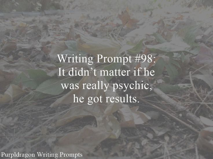 Writing Prompt 98