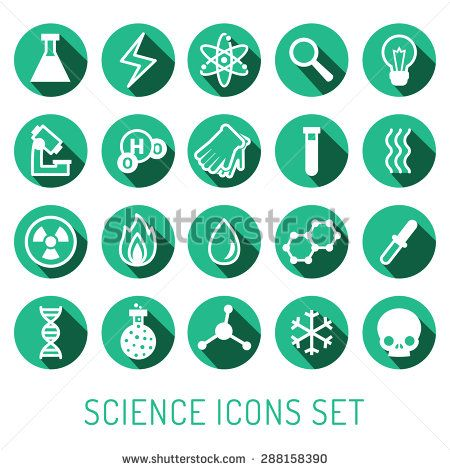 stock-vector-science-vector-icons-set-chemistry-physics-and-biology-modern-flat-design-turquoise-and-white-288158390.jpg (450×470)