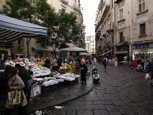 Shopping downtown Naples, Italy