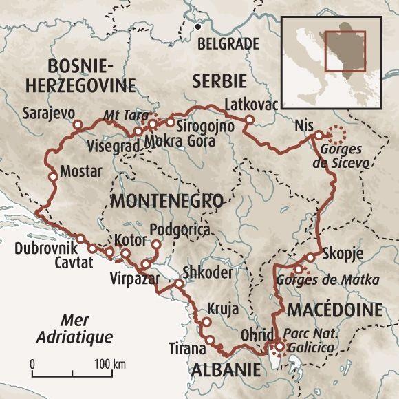Circuit carte Serbie : Grand tour des Balkans