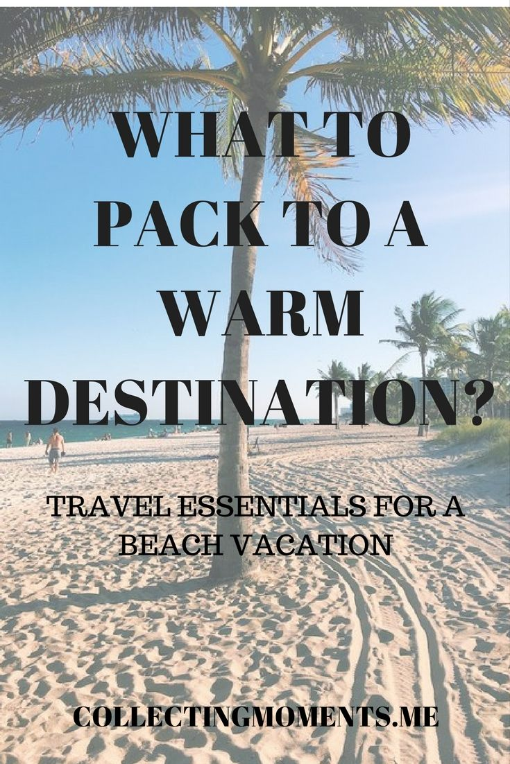 Spring Break + warmer temperatures are just around the corner - meaning? Time to start packing for a beach destination!