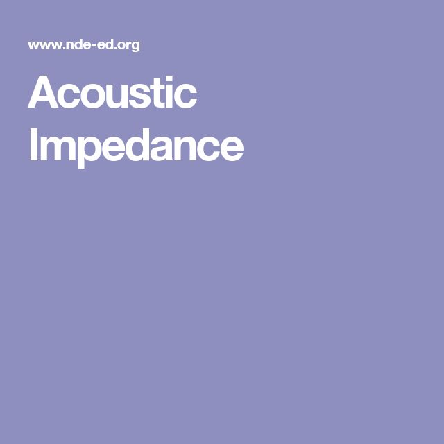 Acoustic Impedance