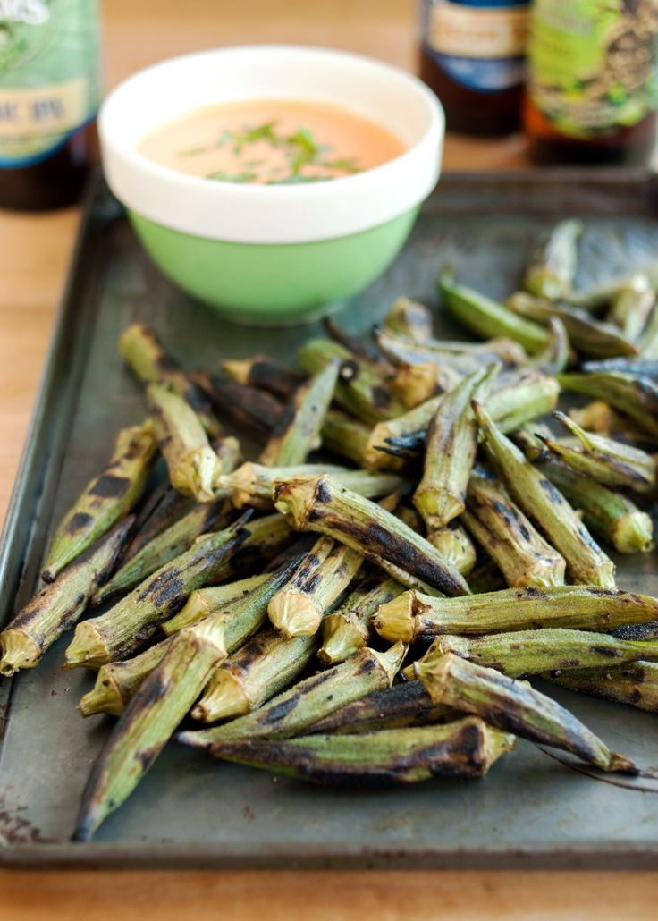 Recipe: Grilled Okra with Spicy Chipotle Dipping Sauce — Recipes from The Kitchn