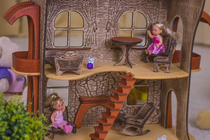 wooden dollhouse #woodendollhouse #dollhouse #dollshouse #ucreator