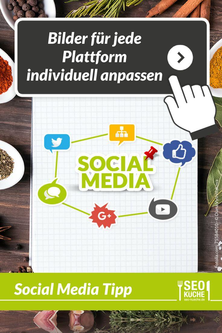Jede social media Plattform hat andere Ansprüche und Bildformate. Um zu verhindern, dass wichtige Inhalte Deiner Grafiken verloren gehen, passe Deine Bilder individuell für jede Plattform an