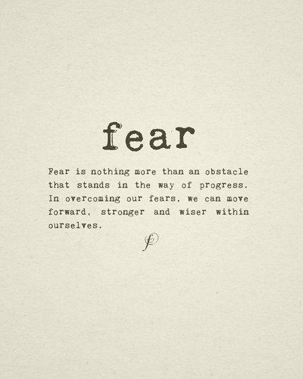 FEAR: definition tattoo idea!
