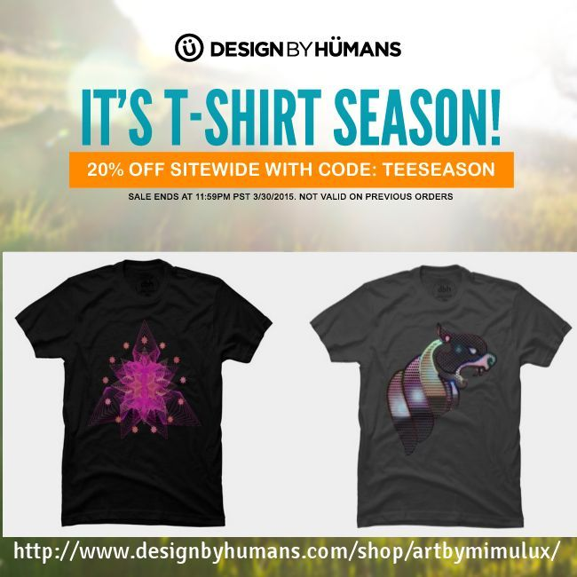 artbymimulux on Design by Humans - 20% OFF TSHirts - use Code TEESEASON - ends March 30 -