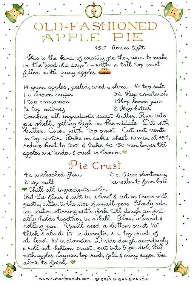 apple pie - susan branch