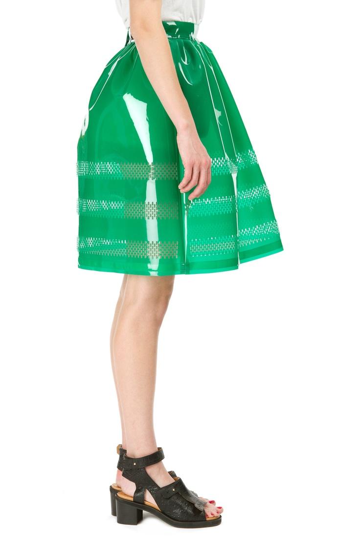 Steve J & Yoni P  Razer Cut Striped Volume Skirt