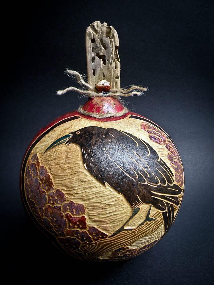 17 migliori immagini su gourd art su pinterest crafting for Gourd carving patterns