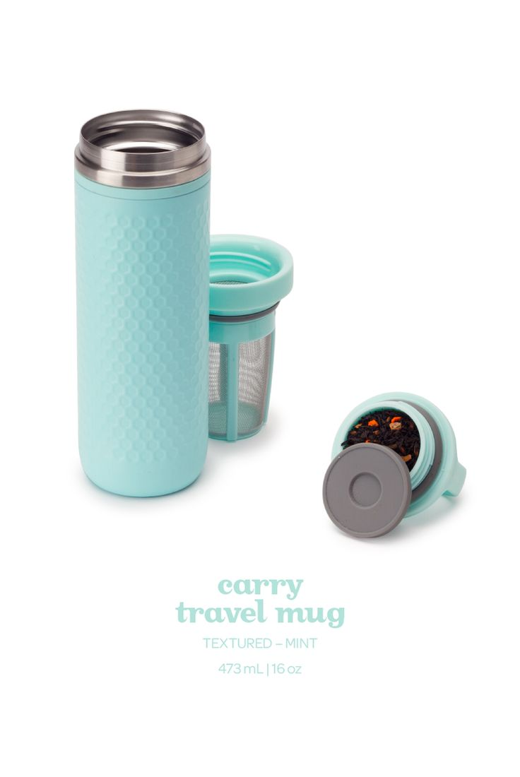 Sip on the go with this leakproof travel mug. It keeps your tea hot for hours!