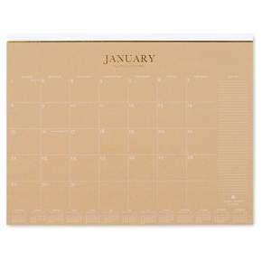 Sugar Paper Desk Pad Calendar 2017 Kraft Beige Desks
