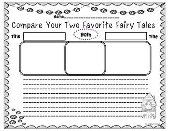 Fairy Tale Extras: Character Webs, Journals and Organizers; Grab & Go