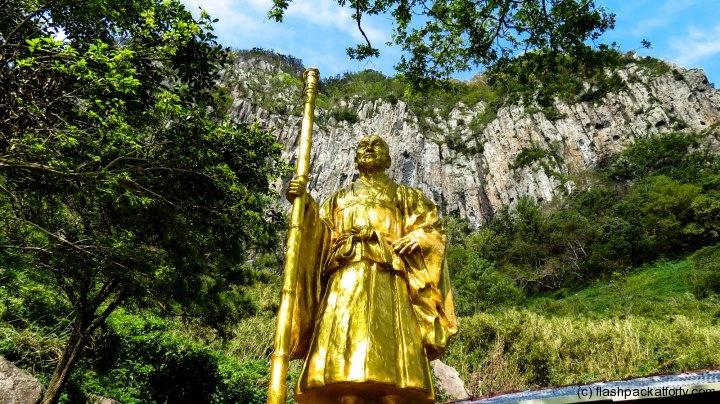 Jeju Island Monastery golden statue #jeju #korea #travel