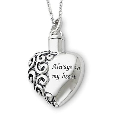 Cremation Heart Urn Necklace Jewelry Always in my Heart chain and funnel   eBay