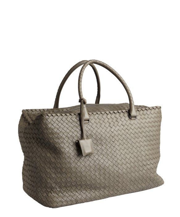 Bottega Veneta grey intrecciato nappa leather 'Brick' large tote