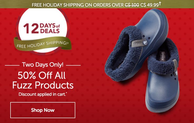 Crocs Canada Christmas Deals: Save 50% Off All Fuzz Products http://www.lavahotdeals.com/ca/cheap/crocs-canada-christmas-deals-save-50-fuzz-products/151726?utm_source=pinterest&utm_medium=rss&utm_campaign=at_lavahotdeals