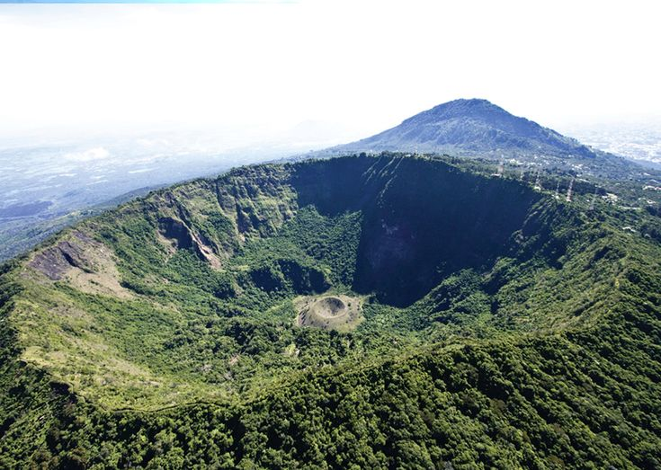 Crater you can hike to at El Boqueron National Park, El Salvador.