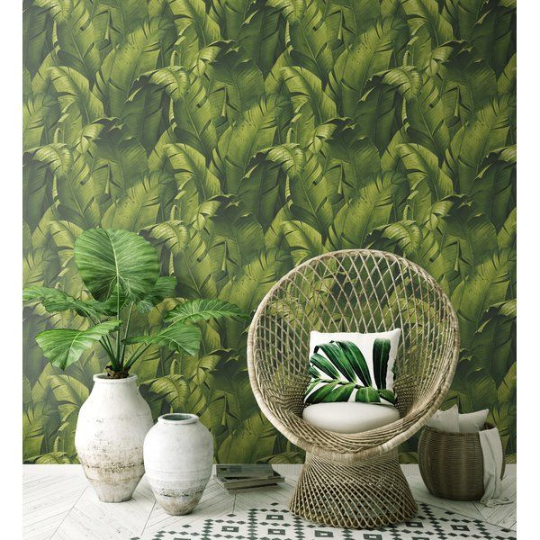 Stubbs Tropical Banana Leaf 18 L X 20 5 W Peel And Stick Wallpaper Roll Peel And Stick Wallpaper Peelable Wallpaper Decor