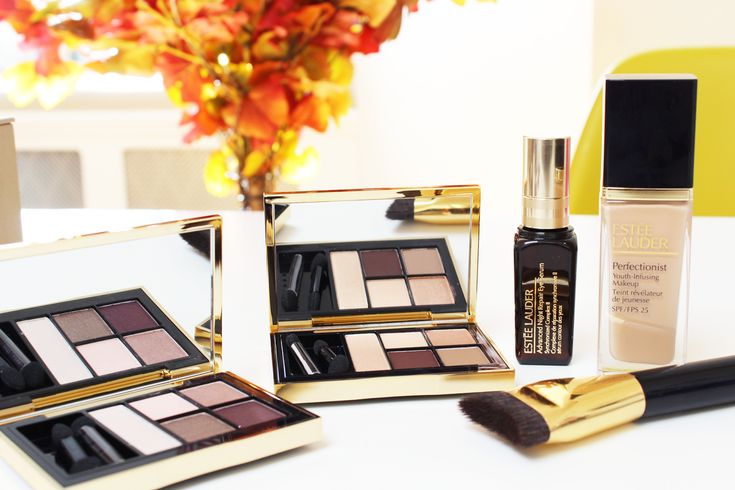 Zoella | Beauty, Fashion & Lifestyle Blog: Estee Lauder Pure Color Envy Eyeshadow Palettes in Currant Desire & Fiery Saffron Perfectionist Youth Infusing Makeup Sculpting Foundation Brush Advanced Night Repair Eye Serum