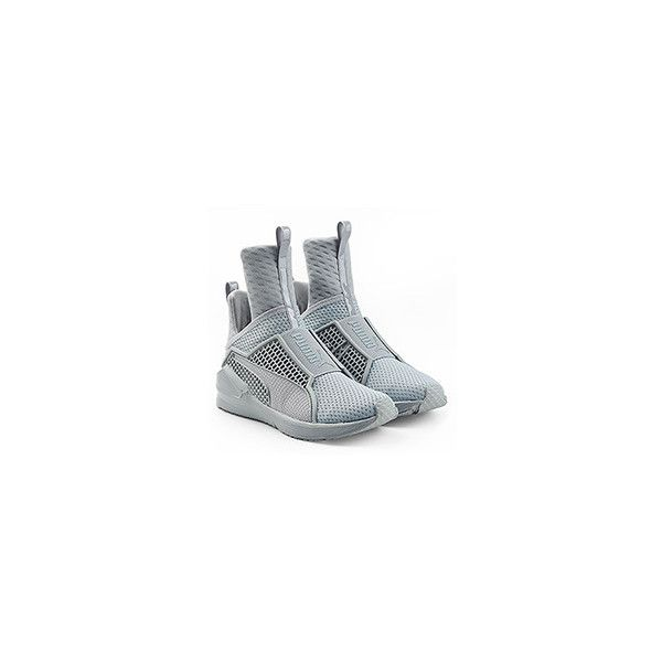Fenty x Puma by Rihanna Fenty x Puma by Rihanna Trainer Mesh Sneakers (550 BRL) ❤ liked on Polyvore featuring shoes, sneakers, tall sneakers, grey shoes, mesh sneakers, puma footwear and gray sneakers