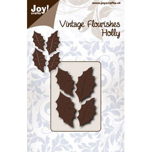 Wykrojnik Joy - Vintage Flourishes Holly - Ostrokrzew - 6003/0050 artystyczny.com.pl