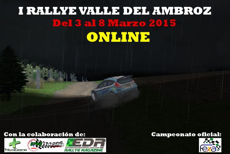 Campeonato de Extremadura de Rallyes Online. I Rallye Valle del Ambroz Online en la parrilla de salida.