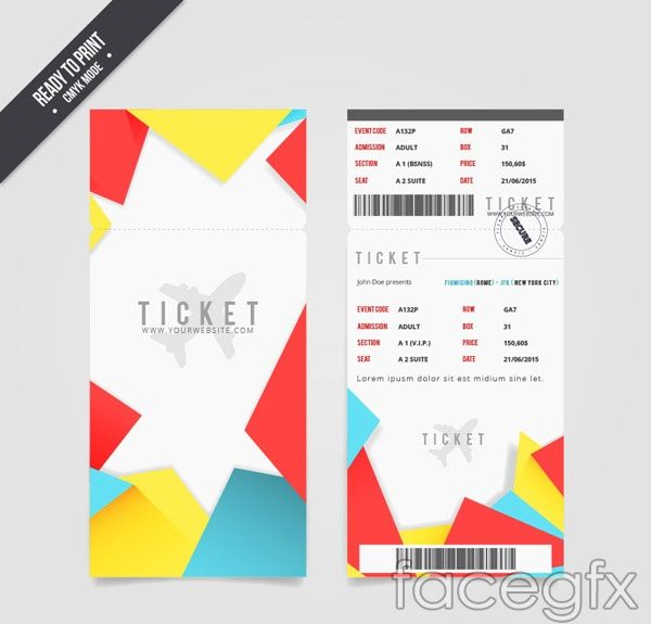19 best design * ticket design images on Pinterest Ticket design - airline ticket template free