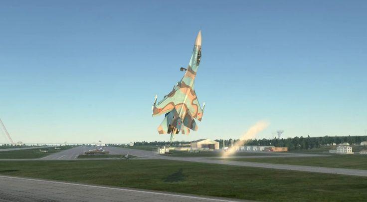 DCS World - Su-27 - Pugachev's Cobra Landing - Су-27 - Кобра Пугачева с ...