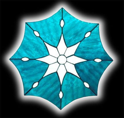 Stained Glass 8 Pointed Star Window