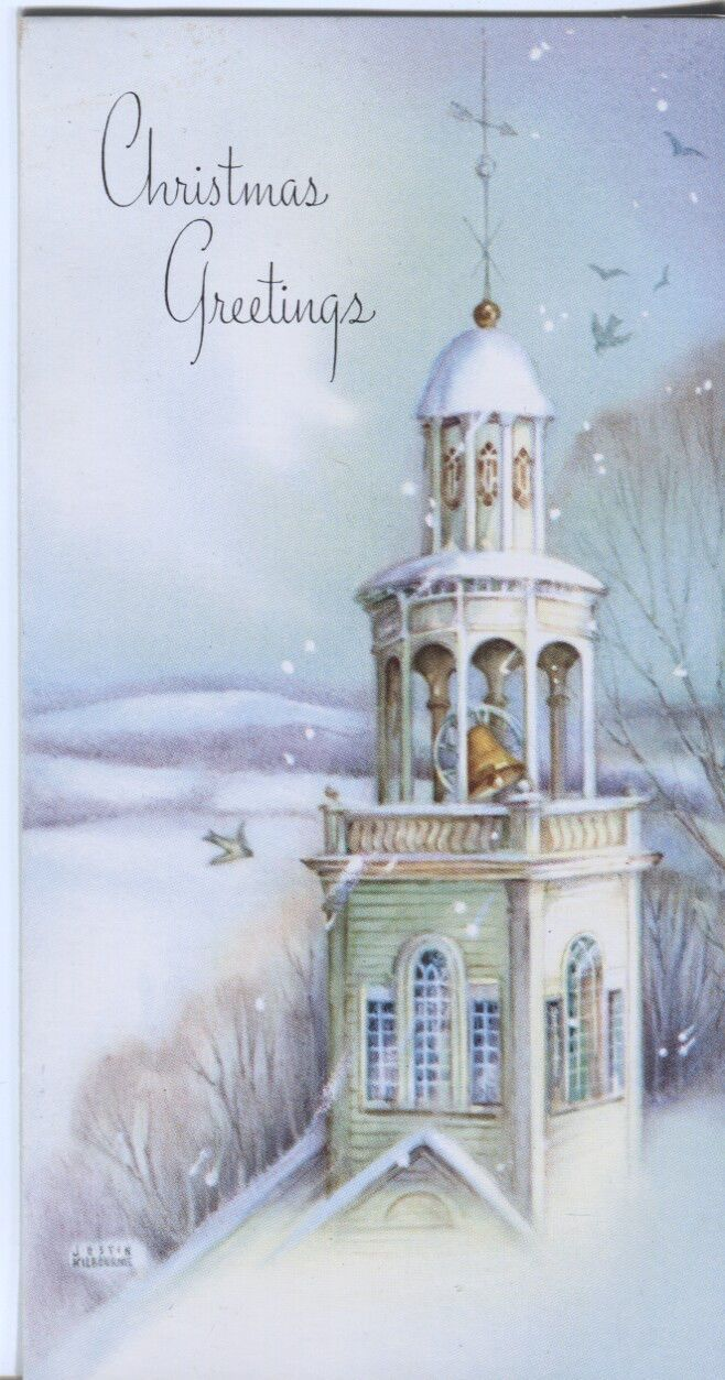 249 best ~Cards~ Christmas Churches~ images on Pinterest | Vintage ...