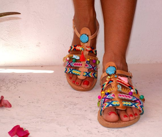 Leather Sandals/ Gladiator Sandals/ Spartan by magosisters on Etsy