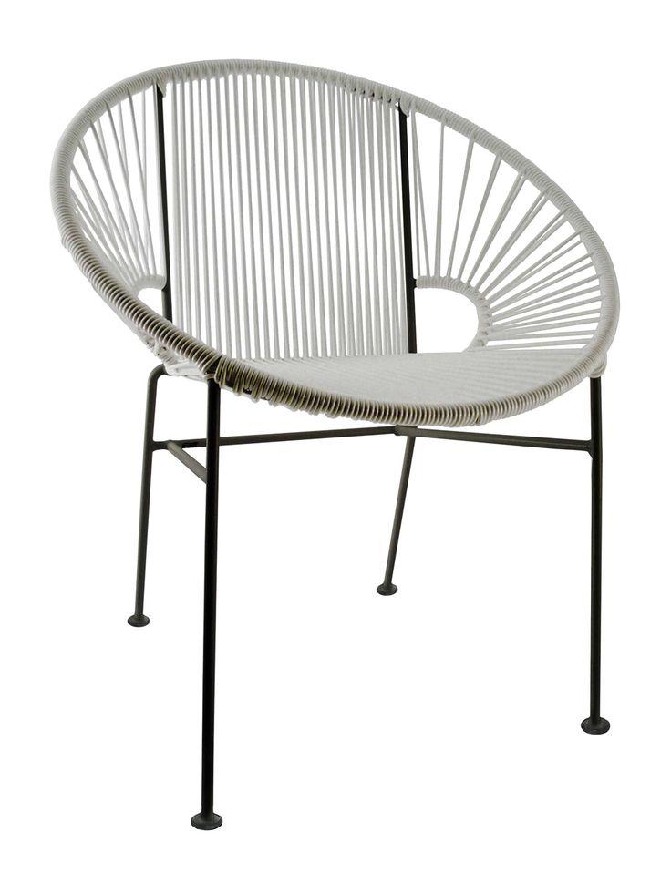 Concha Indoor/Outdoor Side Chair In Neon Pink