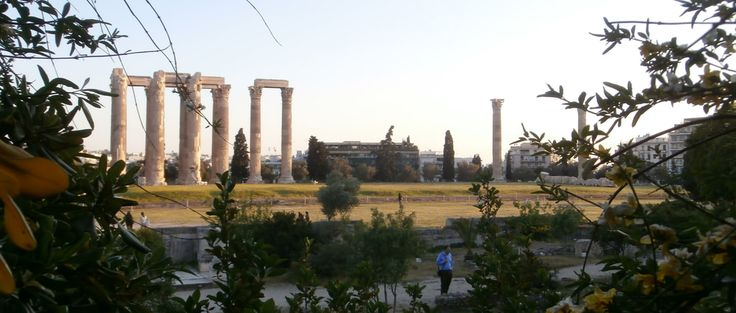 The Temple of Olympian Zeus, Athens, Greece.
