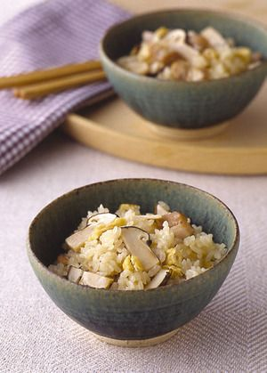 The rice cooked of Matsutake