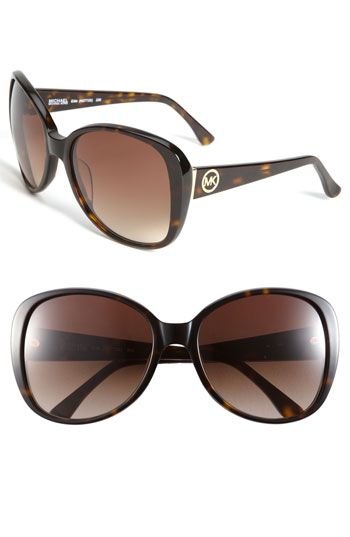 MICHAEL Michael Kors Logo Temple Oversized Sunglasses