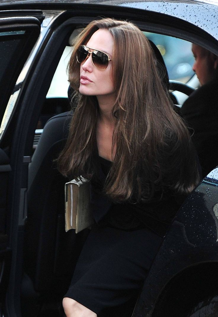 Angelina Jolie in all black