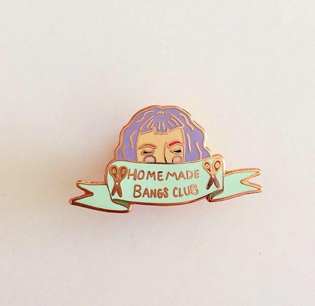 A personal favorite from my Etsy shop https://www.etsy.com/listing/533850435/homemade-bangs-club-enamel-pin