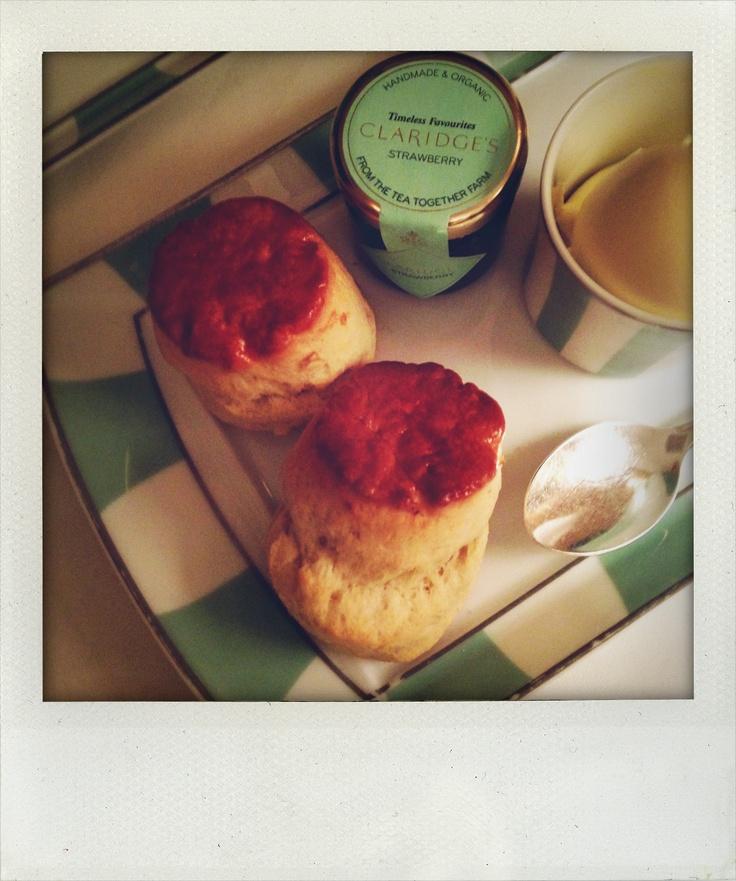 Tea and scones at Claridge's