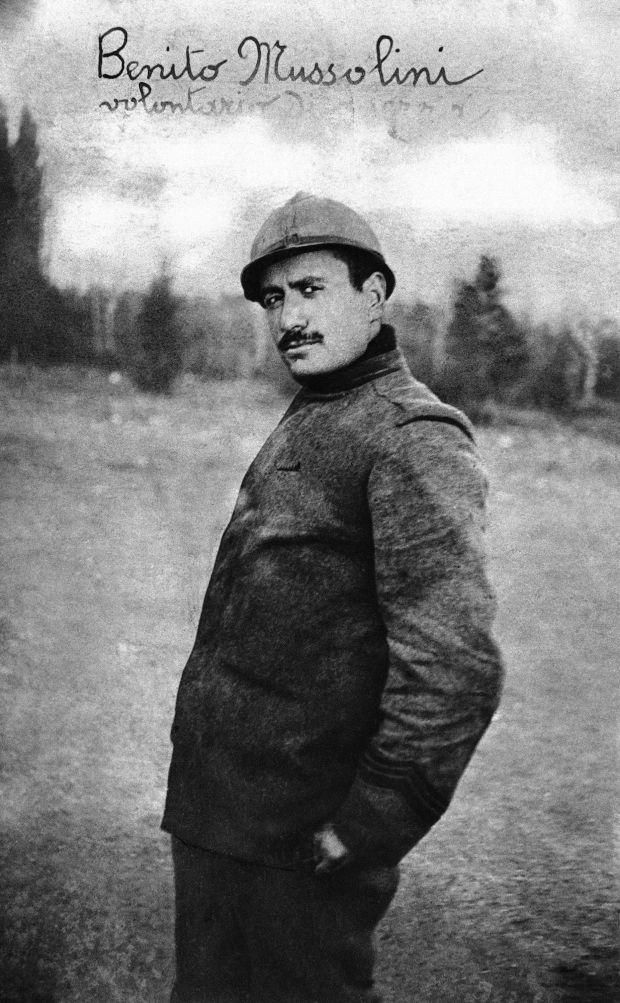 Corporal Benito Mussolini during World War I