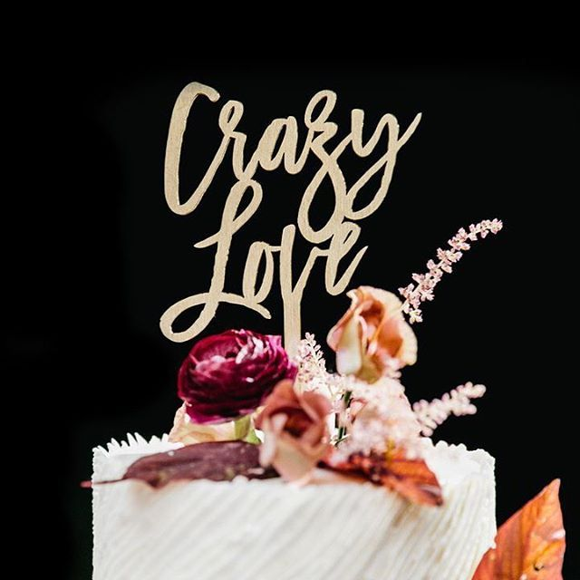 Cake topper goals! Tag your crazy love. ❤️ #theknot 📷: @emilywrenphoto  #Regram via @theknot