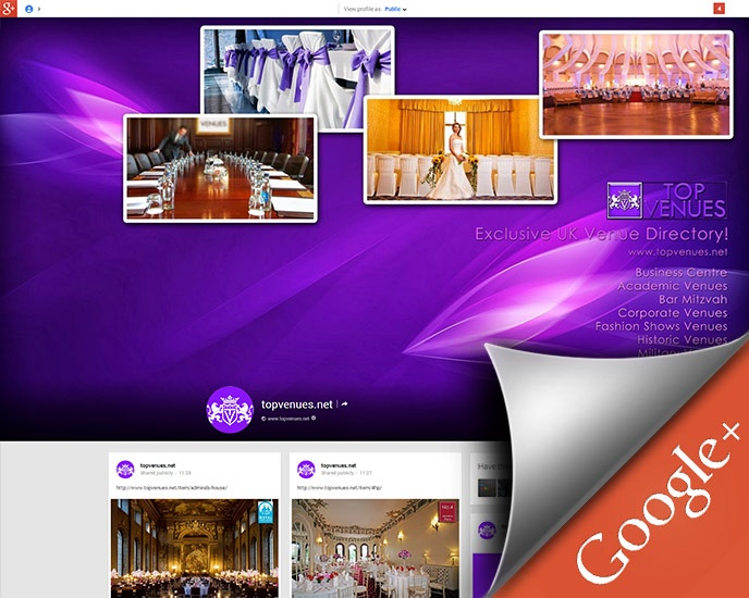 Social marketing, Google+ account branded