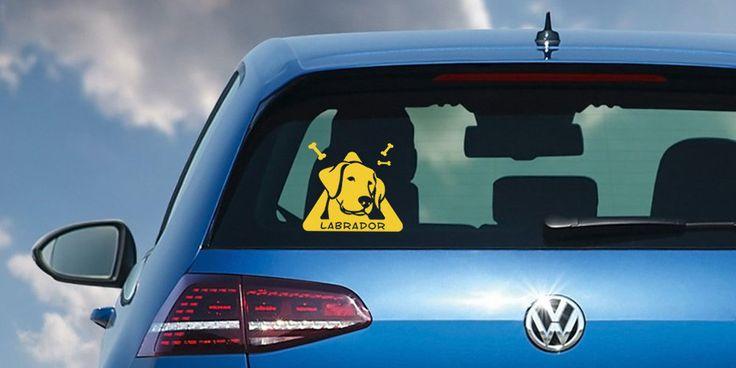 bebe a bordo perro labrador personalizado