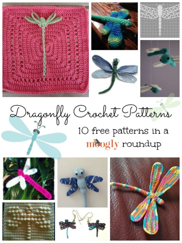Free crochet dragonfly patterns!