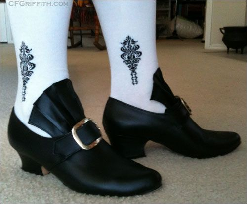 18th century men's heels | 18th century shoes from Fugawee, with clocked cotton stockings from ...