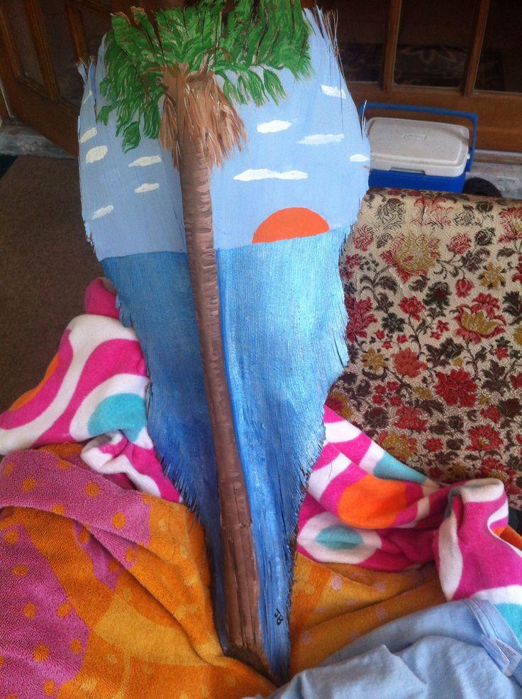 Palm frond painting | Palm fronds | Pinterest | Palms, Art ...