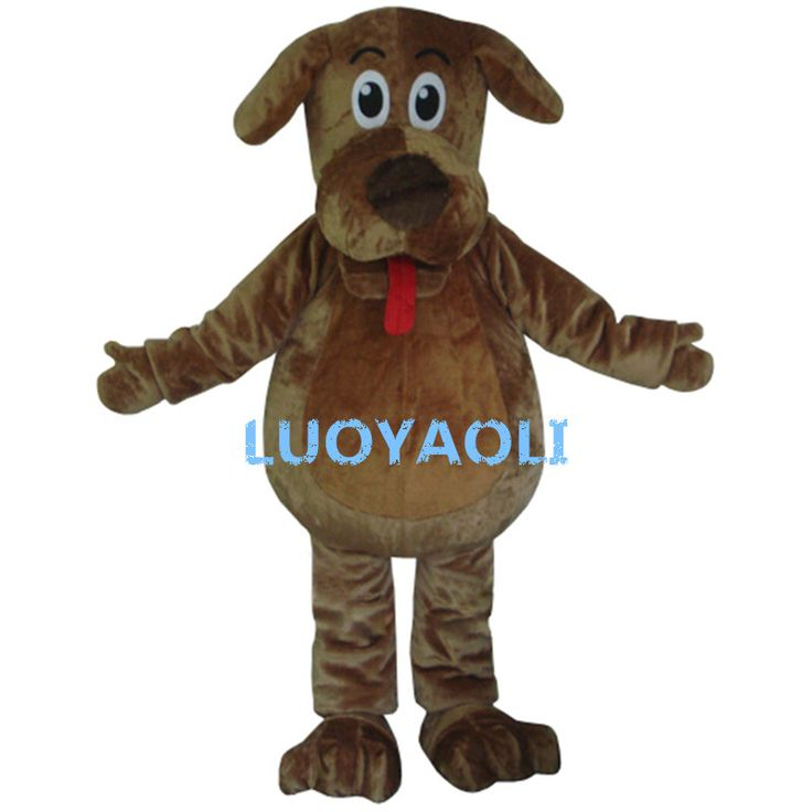 High Quality Cartoon Mascot Costume Wags The Dog Mascot Costumes Fluffy Fur Wags Mascot Costumes #Affiliate