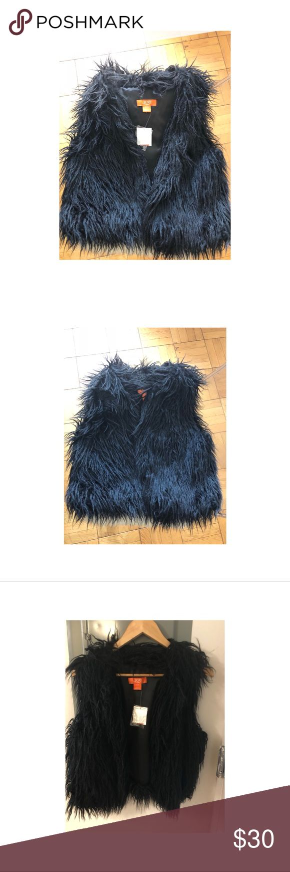 Joe Fresh NWT faux fur Black Gilet Black faux fur like gilet from designer Joe Fresh. New with tags. Never worn.  Perfect to pair with jeans or a dress. Great fall item. Size medium. Hits right above the hip for a sleek fit. Joe Fresh Jackets & Coats Vests