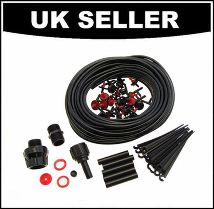23M MICRO IRRIGATION SYSTEM KIT 71PC AUTOMATIC GARDEN PLANT GREENHOUSE WATERING